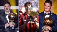 El XI ideal con todos los ganadores del Balón de Oro