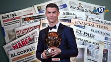 Así reaccionó la prensa mundial tras el quinto Balón de Oro de Cristiano Ronaldo