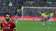 Con efecto y al ángulo: el golazo de Mohamed Salah ante Everton