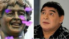 Los mejores memes por la extraña estatua de Diego Maradona