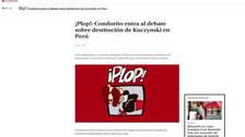 Así informó la prensa chilena sobre la participación de Yeni Vilcatoma en el Pleno
