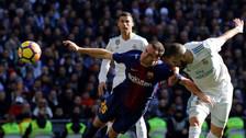 El gran cabezazo de Benzema que no terminó en gol ante Barcelona