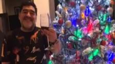 Video | El polémico saludo de Diego Maradona por Navidad