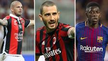 Bonucci y Sneijder: los 10 peores fichajes del 2017