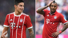 Video | La divertida broma de James Rodríguez a Arturo Vidal
