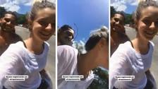 Paolo Guerrero y Thaísa Leal se divierten en bicicleta en Río de Janeiro