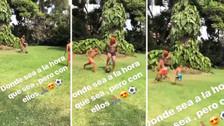 Jefferson Farfán se divirtió jugando fútbol con sus hijos