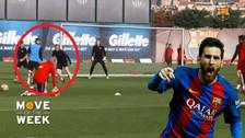 YouTube | Messi dejó en el piso a Rakitic en práctica de Barcelona