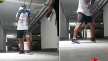 Edison Flores practicó boxeo mientras piensa en el Mundial