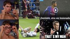 Dembélé es víctima de memes tras lesionarse nuevamente en Barcelona