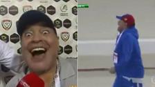 YouTube | Así festejó Diego Maradona el agónico triunfo de su equipo