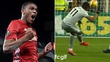 Martial anotó un golazo al ángulo en el triunfo de Manchester United