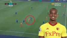 André Carrillo se lució: el pase de taco ante Leicester City