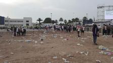 La base aérea Las Palmas quedó llena de basura luego de la misa del papa Francisco