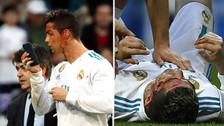 El terrible golpe que dejó ensangrentado a Cristiano Ronaldo