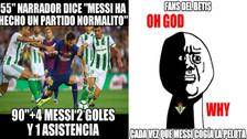 Lionel Messi protagonizó los memes tras su gran partido ante el Real Betis
