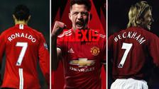 Llegó Alexis Sánchez: los últimos jugadores que usaron el 7 en el Manchester United
