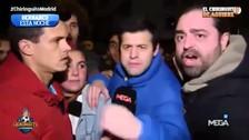 Hinchas de Real Madrid enojados tras la eliminación de la Copa del Rey