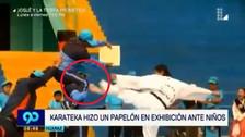 Huaraz: karateca hizo el ridículo en una exhibición ante niños