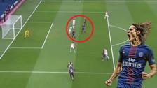 Así fue el gol que convirtió a Cavani en el goleador histórico de PSG