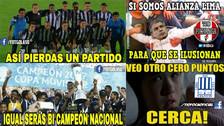Alianza Lima continúa siendo víctima de memes tras perder en la Noche Blanquiazul