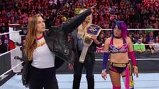 Ronda Rousey hizo su primera aparición como luchadora de la WWE