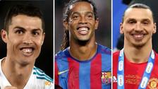 Así se verían las estrellas del fútbol con la sonrisa de Ronaldinho