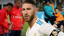 Sergio Ramos ya piensa en el PSG y le mandó mensaje a Mbappé