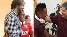 Christian Cueva y su grato momento con los directivos de Sao Paulo