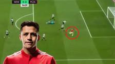 Alexis Sánchez falló un increíble gol cuando estaba solo frente al arco