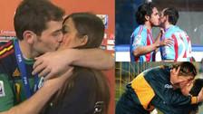 Los besos más recordados en una cancha de fútbol