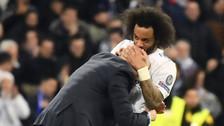 Marcelo anotó sobre la hora y tuvo emotiva celebración con Zidane
