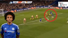 Willian anotó un golazo desde fuera del área en el triunfo del Chelsea