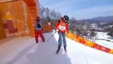Mujer compitió en los Juegos Olímpicos de Invierno sin saber esquiar