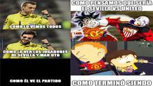 Manchester United es víctima de memes tras empatar con el Sevilla
