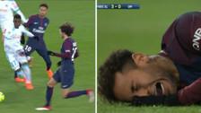 Como un niño: la triste reacción de Neymar tras lesionarse con el PSG