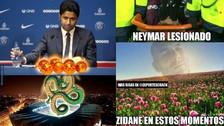 Los mejores memes de Neymar y su complicada lesión en el tobillo