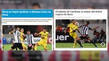 Así informó la prensa argentina empate entre Alianza Lima y Boca Juniors