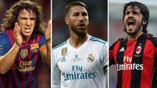 Los 10 jugadores con más tarjetas en la historia de la Champions League
