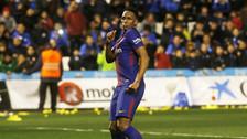 Yerry Mina anotó su primer gol con Barcelona y lo celebró con un baile