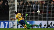 Así fue la gran definición de Dybala en el triunfo de Juventus ante Tottenham