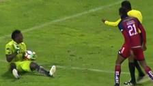 Arquero fingió agresión del árbitro en la Copa Sudamericana