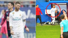 Sergio Ramos se fue al baño en pleno partido y Zinedine lo explicó así