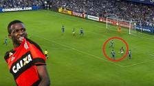 Show de Vinicius Junior en la Libertadores: anotó dos golazos con Flamengo