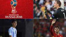 20 cracks que quedarían al margen del Mundial Rusia 2018 [FOTOS]