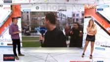 Periodista argentino fue agredido en vivo y Mascherano se burló