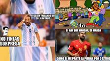 Argentina en la mira de los memes tras perder 6-1 ante España