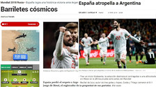 Prensa española celebra el histórico triunfo sobre Argentina
