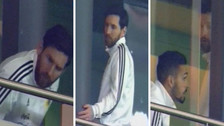 La reacción de Lionel Messi tras el sexto gol de España a Argentina