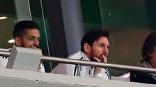 La razón por la cual Lionel Messi dejó el palco ante España